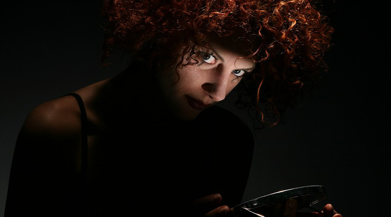 Woman Hair Crazy Psycho Curly Psychopath Reddish
