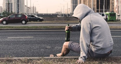 Moscow Russia Homeless Poverty Alcoholic On The Street Road Street Space Environment Summer