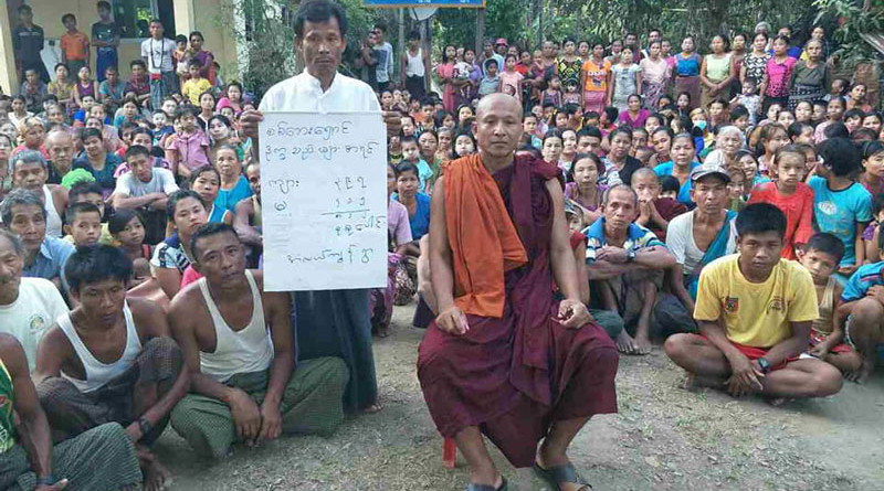 Internally displaced people (IDPs) sheltering at a monastery in Alae Gyun village, Ann Township, Myanmar. Photo Credit: DMG