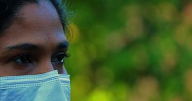 Africa Woman Corona Mouth Guard Virus Covid-19 Coronavirus