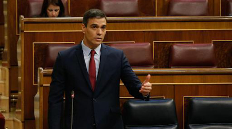 Spain's Prime Minister Pedro Sánchez speaking in Lower House of Congress. Photo Credit: Congreso de los Diputados