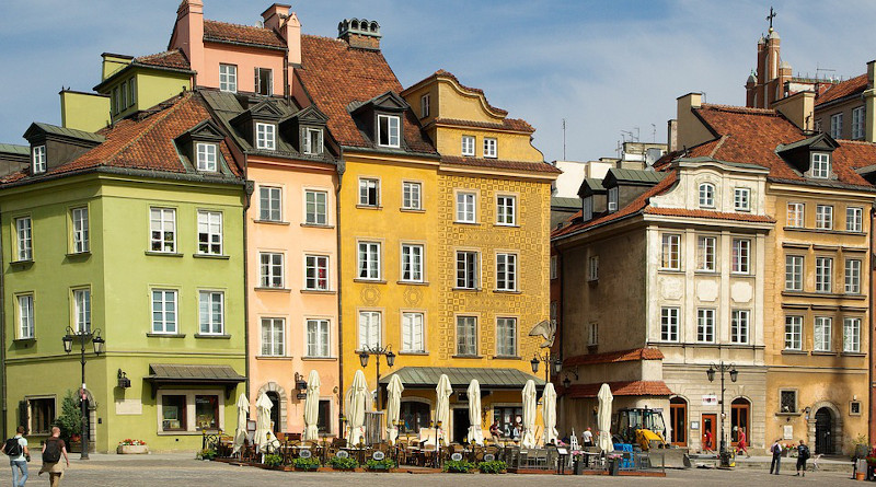 Poland Warsaw Old Town Facades Architecture