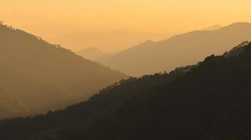 Cordillera Philippines Besao Outdoor Mountain Forest Sunset Misty Hills