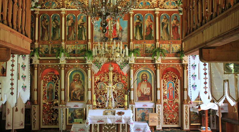 Orthodox The Iconostasis Church Decoration Religion Ukraine