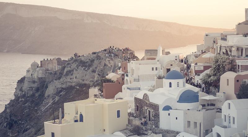 Sunset Santorini Greece Greek Islands Travel