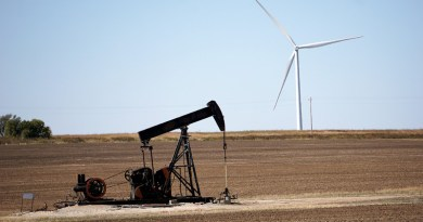 Pumpjack Renewable Wind Power Turbine Oil Oil Well Energy Environment