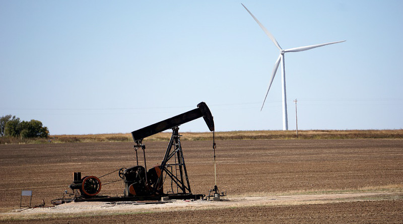 Pumpjack Renewable Wind Power Turbine Oil Oil Well Energy Environment