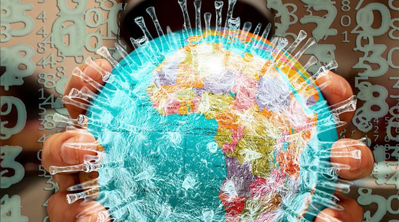 Infected World Globe Matrix Corona Coronavirus Terrorism