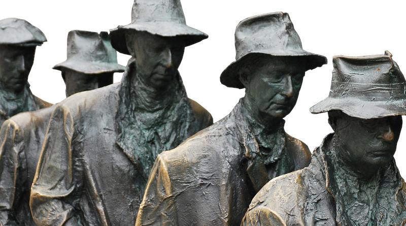 Sculpture Art Artwork Breadline Depression 1930