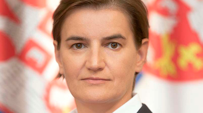 Serbia's Prime Minister Ana Brnabic. Photo Credit: The Government of the Republic of Serbia website