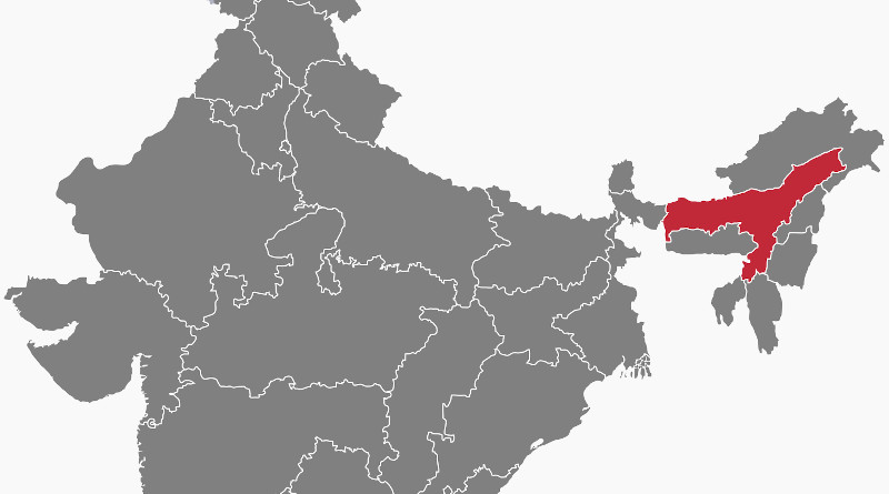 Location of Assam in India. Credit: Wikipedia Commons