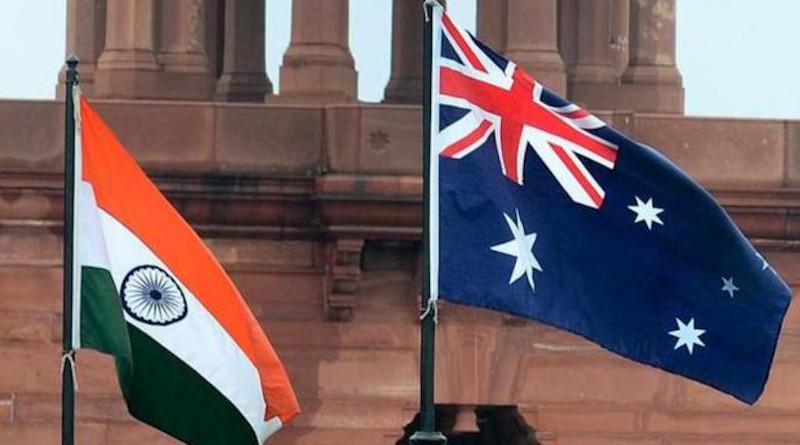 Flags of India and Australia. Source: YouTube screenshot