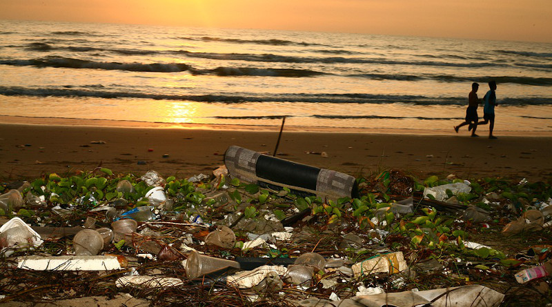 Plastic Ocean Trash Beach Pollution Conservation Sunrise
