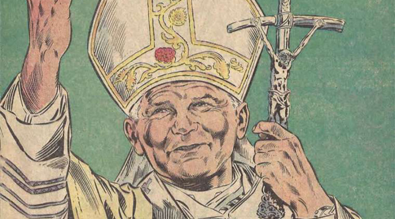 Pope John Paul II. Credit: Marvel.