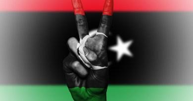 Flag Libya Peace Hand Nation Background Banner Colors