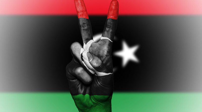 Flag Libya Peace Hand Nation Background Banner Colors