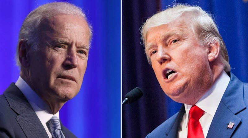 Former Vice President Joe Biden and President Donald Trump. Photo Credit: Tasnim News Agency