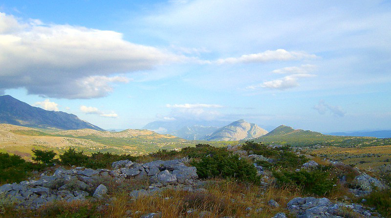 Landscape Nature Mountains Stones Sky Clouds Croatia