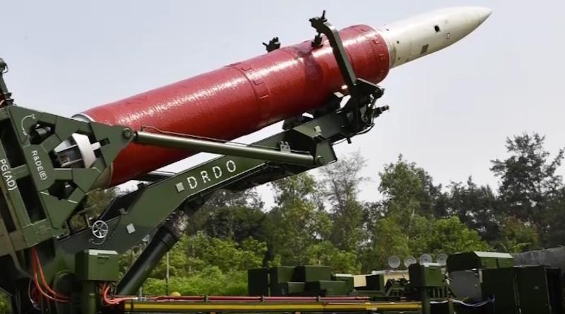Indian anti-satellite missile, Mission Shakti. Photo Credit: DRDO