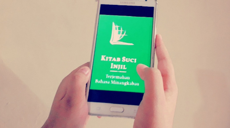 The Bible application that was in the Minangkabau language on Google Play has been removed following a protest by the governor of West Sumatra province. (Photo supplied)