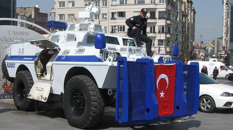 Turkey Istanbul Tank Police Vehicle Gray Police
