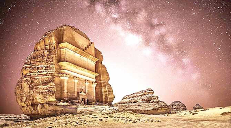An ancient tomb of the Nabateans in AlUla. (AN file photo)