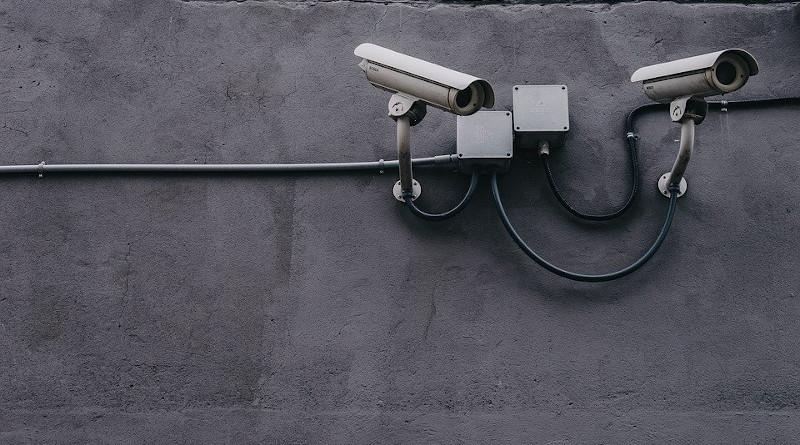 Concrete Wall Pipe Cctv Camera Gray Camera