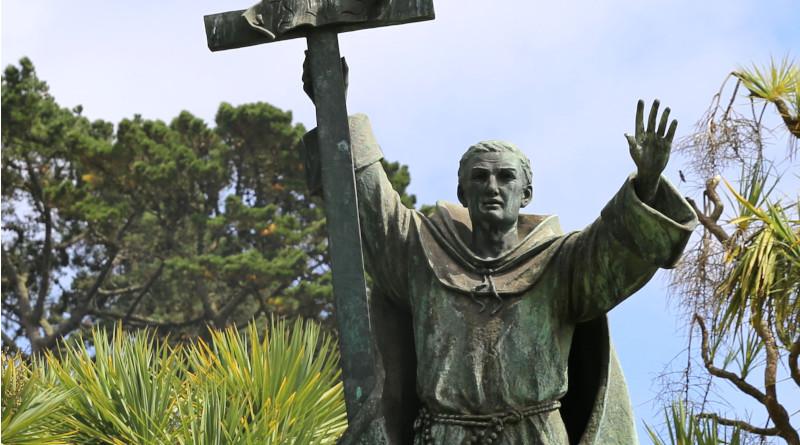Statue of St. Junipero Serra by Douglas Tilden in Golden Gate Park, San Francisco. Photo Credit: Burkhard Mücke, Wikipedia Commons.