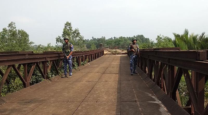 Soldiers patrol border in Myanmar. Photo Credit: DMG