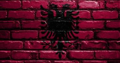Albania Flag Banner Nation Emblem Country National