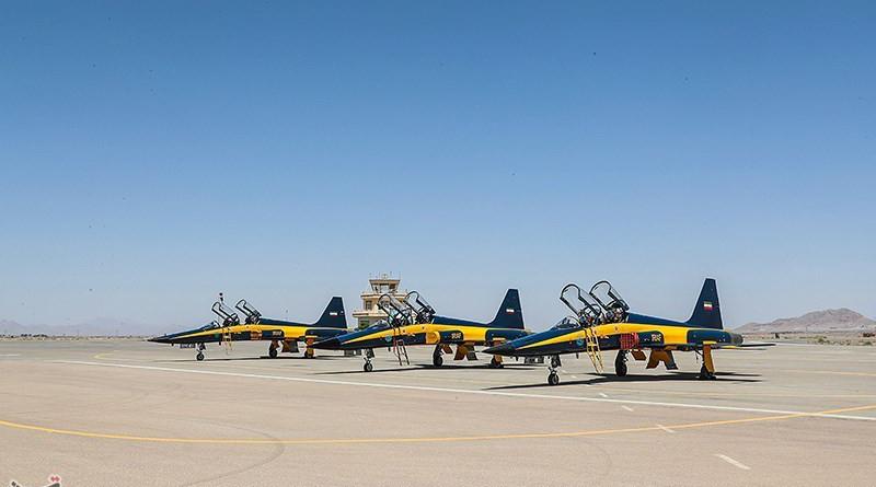 "Iranian-made ""Kowsar"" fighter jets. Photo Credit: Tasnim News Agency"