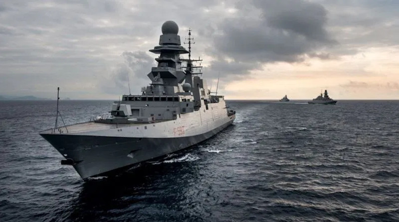 Promotional image of the Italian frigate the U.S. Navy is adapting for construction at Marinette. Photo credit: Fincantieri.