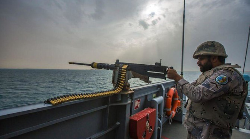 Warning shots were fired after three Iranian boats were spotted in Saudi waters on Thursday and refused to stop as asked by maritime border guard patrols. (File/SPA)