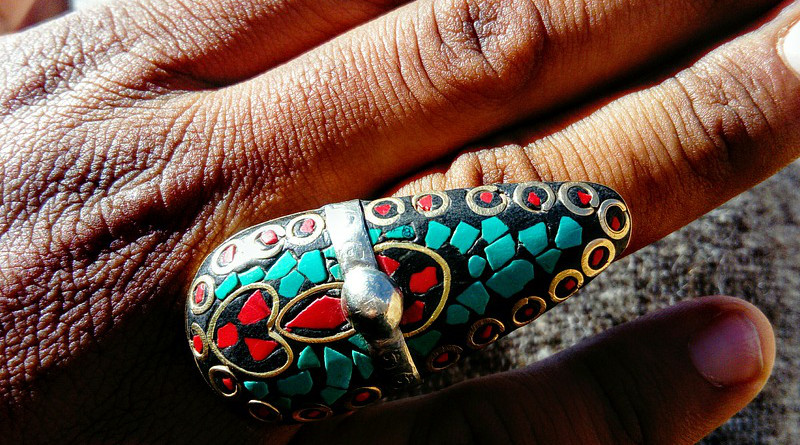 Silver Hand Ring Morocco Berber