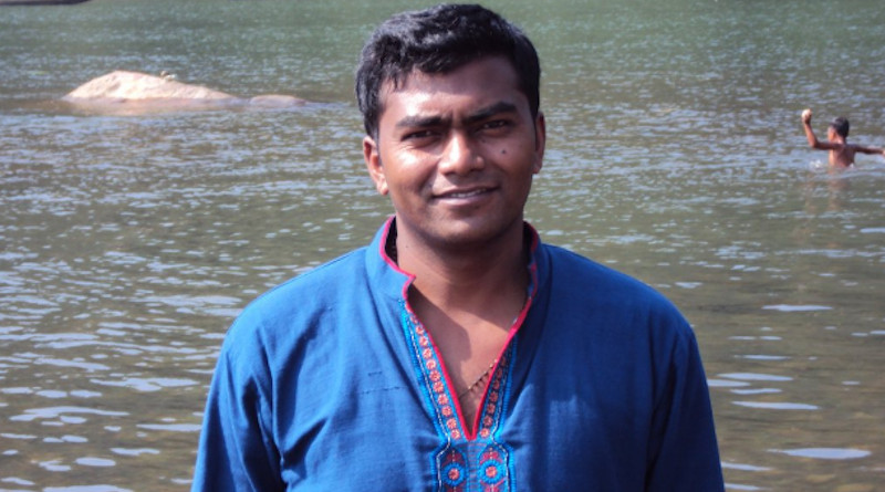 Ovidio Marandy, an ethnic Santal Catholic and government land officer, is seen in this 2010 photo. He was allegedly murdered in 2014 for his strong stance against land grabbing. (Photo supplied)