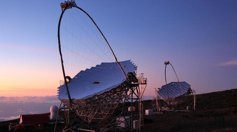 The MAGIC telescope system at the Roque de los Muchachos Observatory, La Palma, Canary Islands, Spain CREDIT Giovanni Ceribella/MAGIC Collaboration