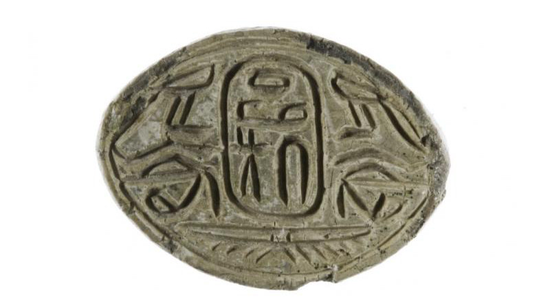 Seal amulet with the name of the Hyksos pharoah Apophis. CREDIT: The Metropolitan Museum of Art (CC0)
