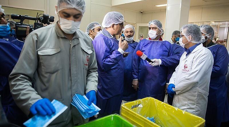Iran bans export of face masks. Photo Credit: Tasnim News Agency