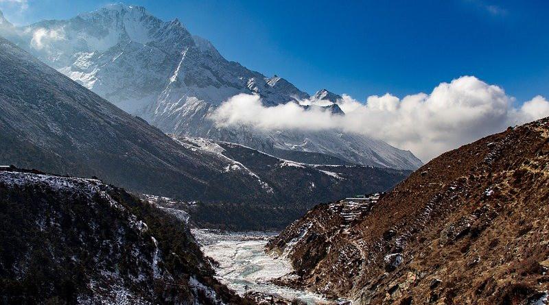 Himalayas Nepal Mountains River Valley Beautiful