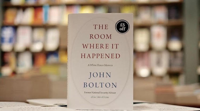 "Cover of John Bolton's book ""The Room Where It Happened."" Photo Credit: IDN."