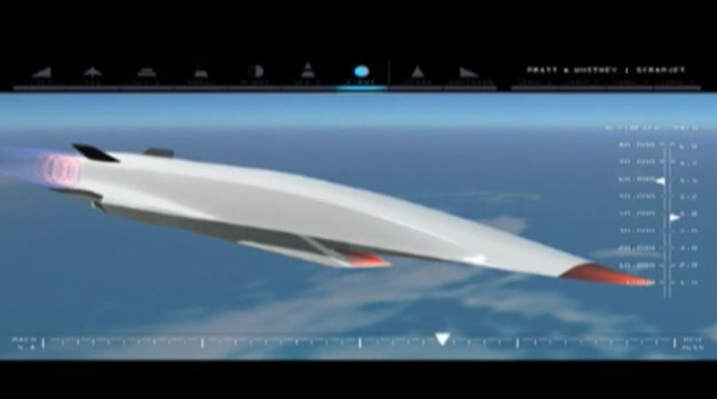The X-51A WaveRide was first geared up for testing in the spring of 2010. Screenshot from Air Force video