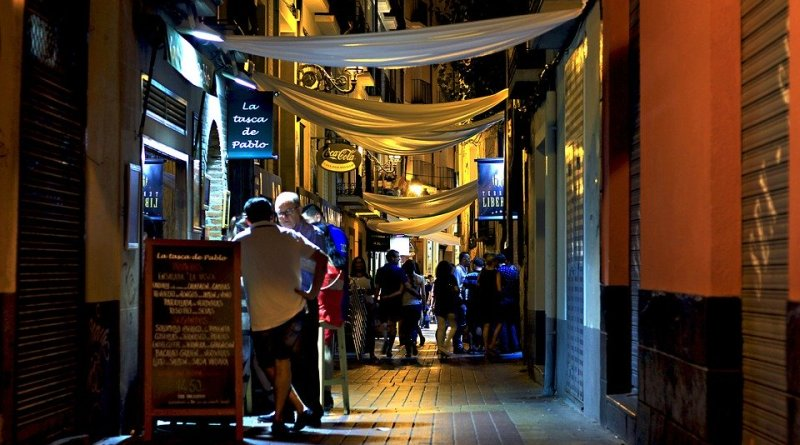 Spain Night Bars City Chairs Cocktail Saragossa Urban