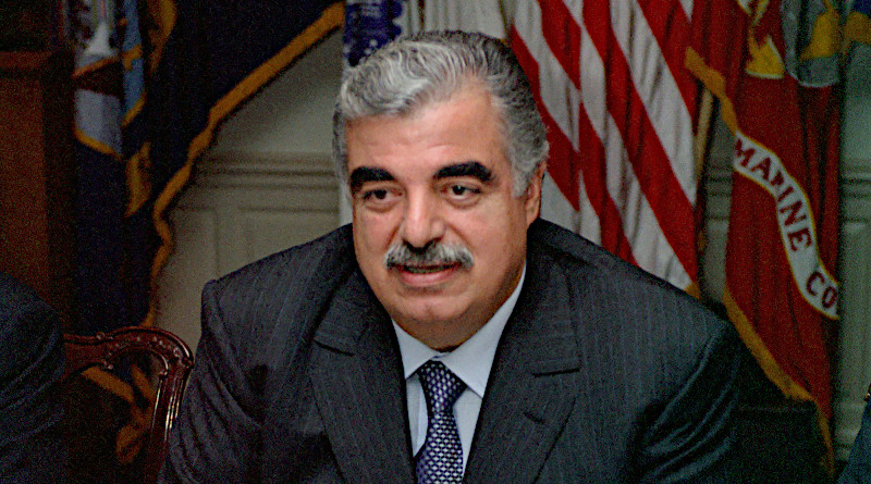 Lebanon's Rafiq Hariri. Photo Credit: Helene C. Stikkel, DoD, Wikipedia Commons