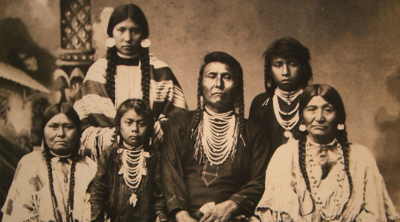 Chief Joseph and family. Photo Credit: F. M. Sargent, Washington State History Museum, Wikimedia Commons