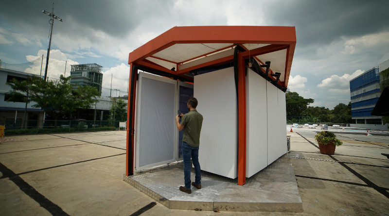 Exterior of Cold Tube demonstration pavilion. CREDIT: Lea Ruefenacht