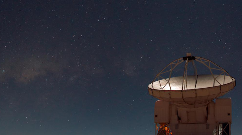 The Atacama Pathfinder Experiment (APEX), on the 5000-metre altitude plateau of Chajnantor in the Chilean Andes. CREDIT: ESO/B. Tafreshi/TWAN (twanight.org)