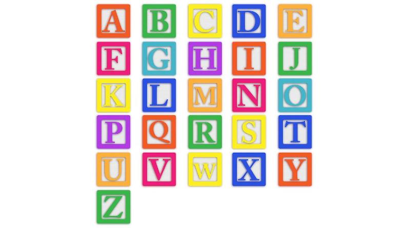 Baby Blocks Alphabet Abc Letters Colourful Block