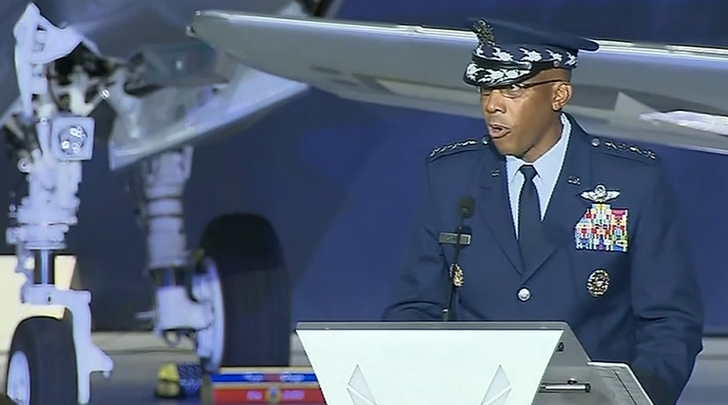 Gen. Charles Q. Brown Jr. named as the Air Force chief of staff and member of the Joint Chiefs of Staff. Photo Credit: Screenshot Pentagon video