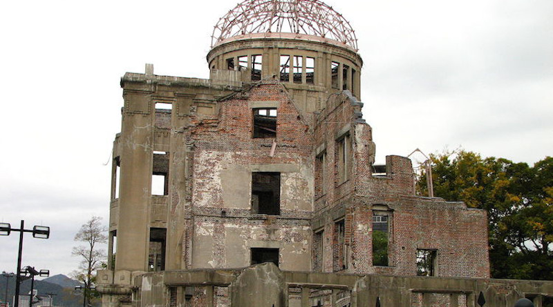 Side view of the Hiroshima Peace Memorial. Wikimedia Commons CC BY-SA 2.5