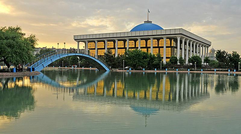 Parliament (Supreme Assembly) building at Navoi Park, in Tashkent, Uzbekistan. Photo Credit: LBM1948, Wikipedia Commons